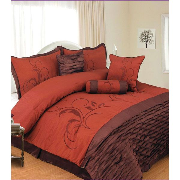 queen bed set brown and orange comforter set blankets 11100