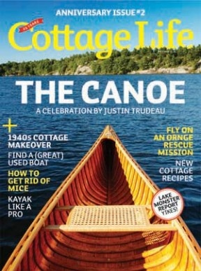 A day at the cottage curled up by the fire reading a Cottage Life magazine.