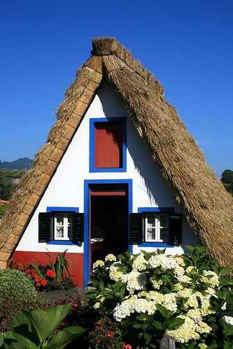 Typical house of Santana, northern Madeira Island, Portugal