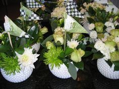 ... in ... golf centerpieces, centerpiec idea, golf centerpiece ideas