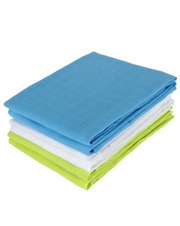 Jollein многоцелевых муслин 70х70 см 6 шт.  лайм-аква-белая  — 1450р.  Комплект многоцелевых пеленок 70х70 см 6 шт. Jollein сделан из мягкой дышащей ткани - муслина. Пеленки идеально подойдут для каждодневного использования: во время кормления, переодевания, в качестве пеленок-подгузников, легкого одеяла или накидки.