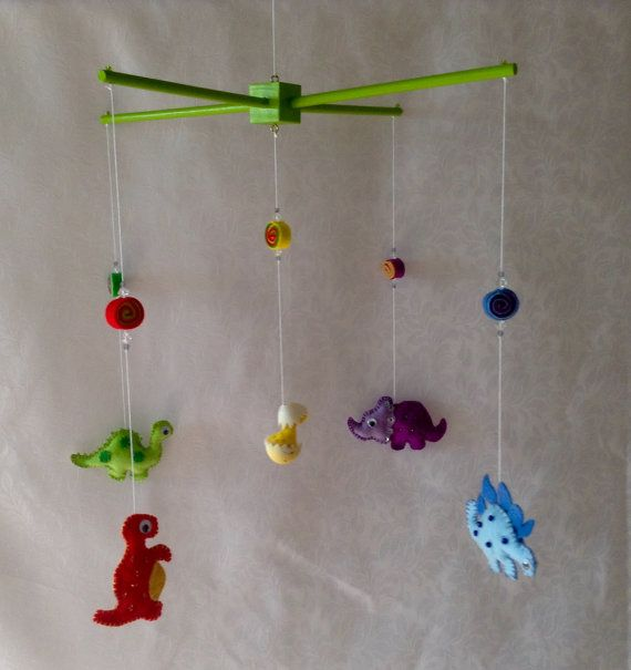 Dinosaur mobile baby mobile cot mobile crib by FlightsOfFancyZA