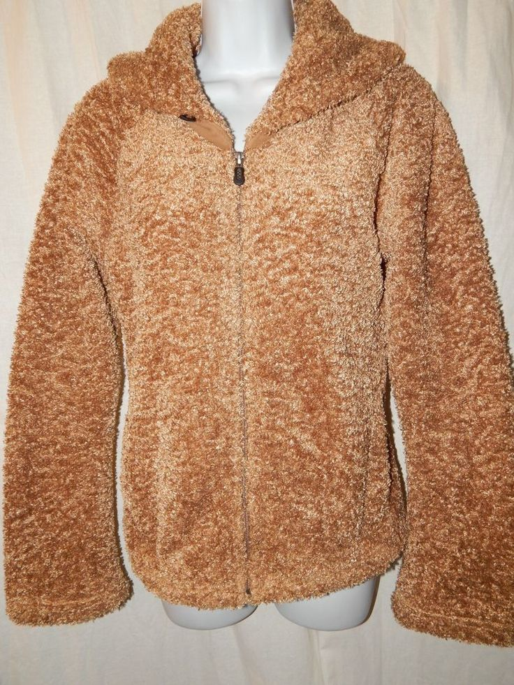 Patagonia Synchillla Jacket M Curly Q Blond Brown High Pile Women's Coat MS51 #Patagonia #FleeceJacket #Casual