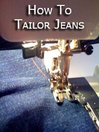 How To Tailor Jeans... How To Make Jeans Smaller, How To Hem Jeans, Make Jeans Waist Smaller...