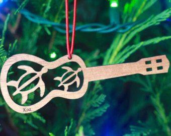Koa Wood Ukulele Ornament - Made in Hawai'i
