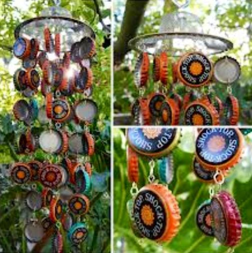 17 best images about carillon vent avec des capsules on for What to make with beer bottle caps