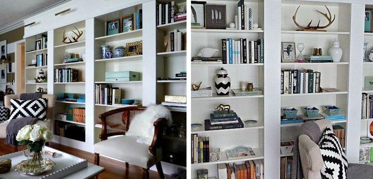 Ideas de almacenaje con las estanterías Billy de Ikea - http://www.decoora.com/ideas-de-almacenaje-con-las-estanterias-billy-de-ikea/