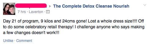 And this is only one of many happy customers! Take the DCN 24 Day Challenge!  #dcnpower #energy #vitality #fatloss http://www.detoxcleansenourish.com/?team=renaekucina