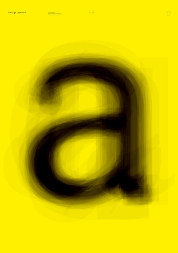 Average Typeface by Jan Vranovský, via Behance