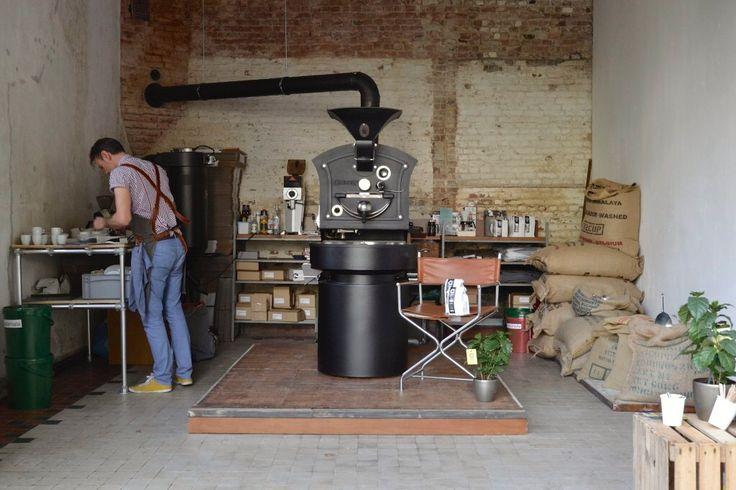 Koffiebranderij. Giesen koffiebrander