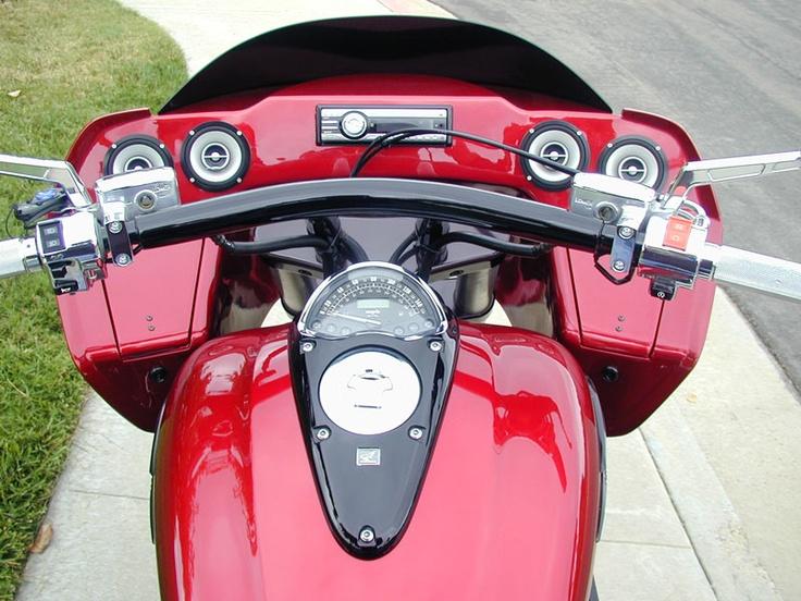 Inside road glide fairing on a VTX