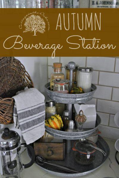 DIY Autumn Beverage Center