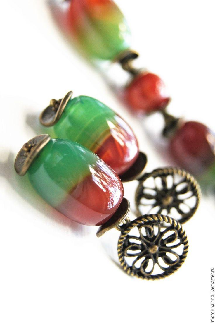 """Купить """"Осенний поцелуй"""" - серьги из агата. - комбинированный, серьги, серьги ручной работы, серьги с камнями"""