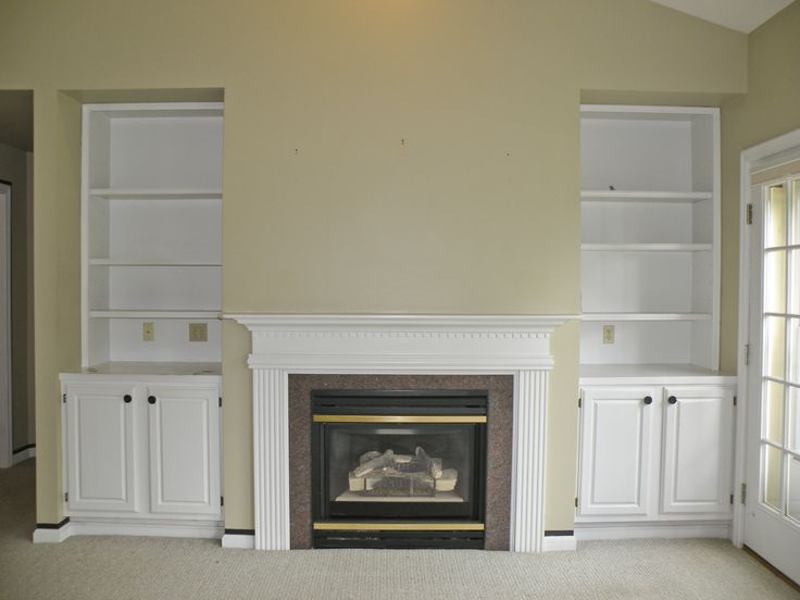And Gas Fireplace With Built Ins RedoLiving Room