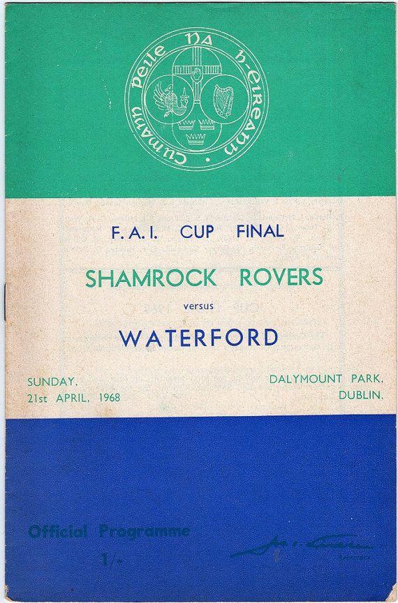 Vintage Football (soccer) Programme - Shamrock Rovers v Waterford, 1968/69 season #football #soccer