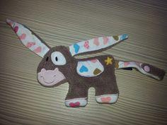 Schnullertücher - Schnullertier/ Schnuffeltuch Esel - ein Designerstück von dierotzgoeremalvier bei DaWanda