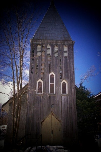 The church that disappeared at Whitefish Falls, Ontario