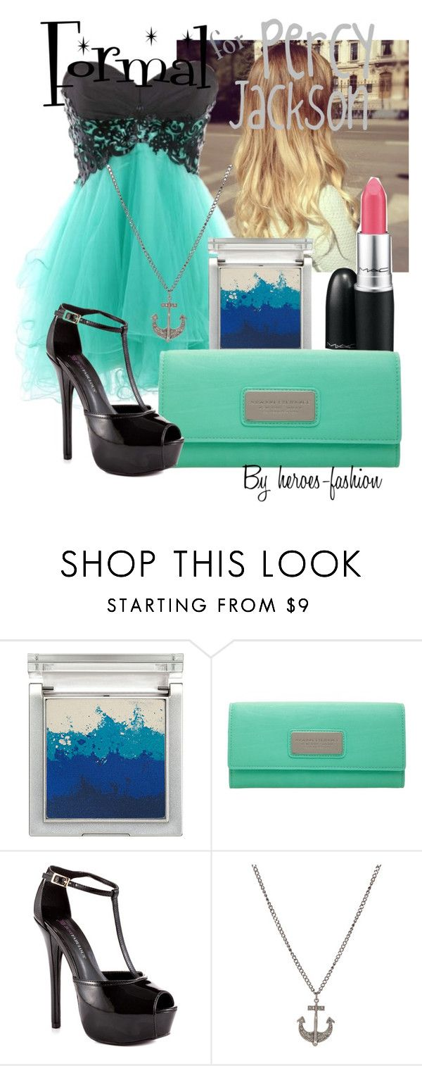 """""""Formal for Percy Jackson"""" by heroes-fashion ❤ liked on Polyvore featuring Sue Devitt, Armani Exchange and JustFab"""