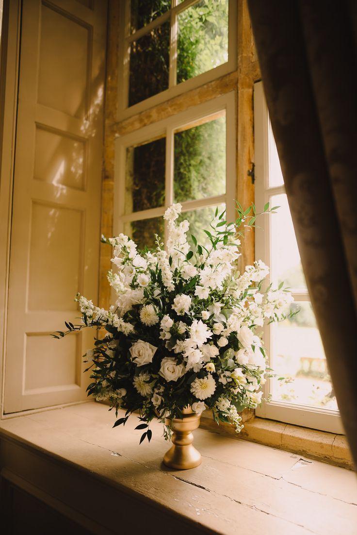 Wedding decoration ideas gold  White Floral Display For Wedding  White u Gold Elegant Wedding