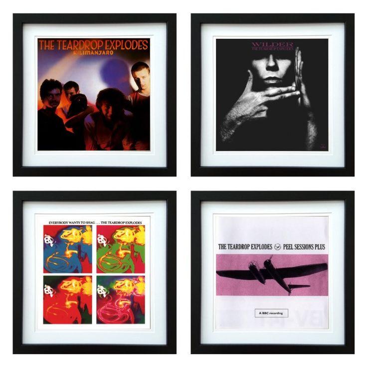 The Teardrop Explodes | Framed Album Art Set of 4 Images | ArtRockStore