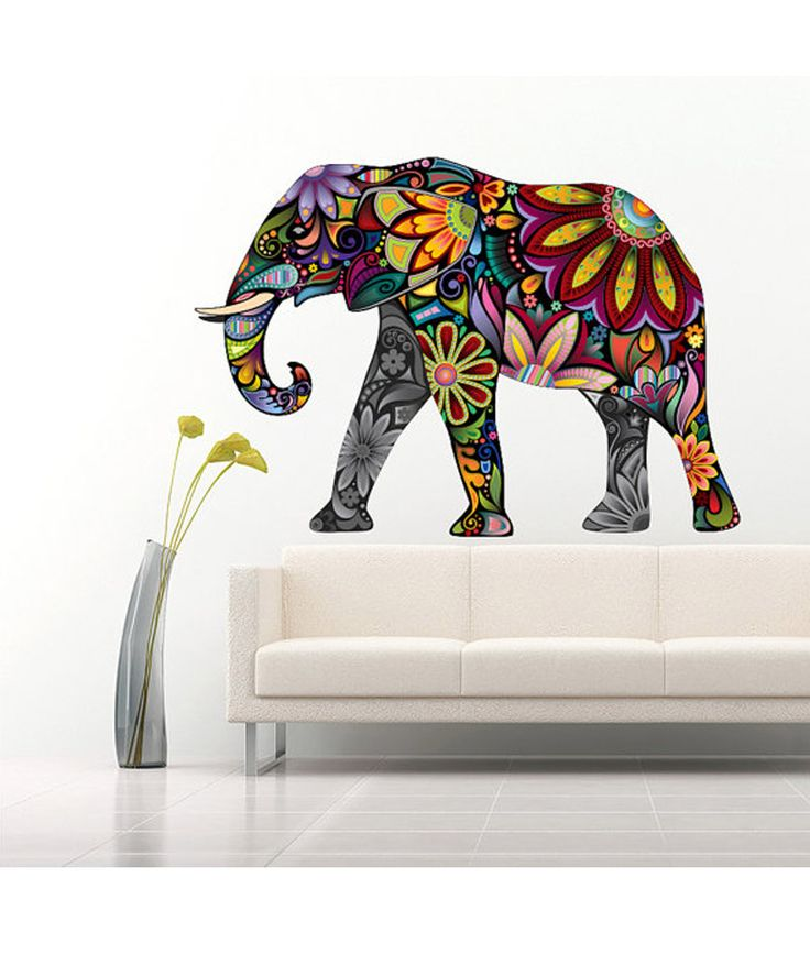 Vinilo Adhesivo Elefante mandala multicolor