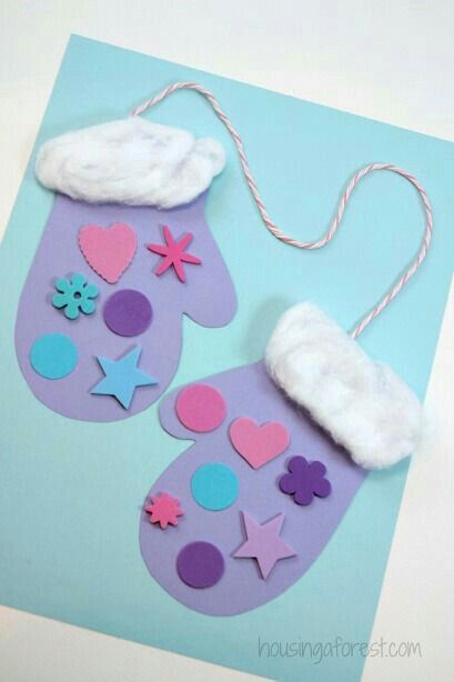 Cute mittens craft   #winteractivities