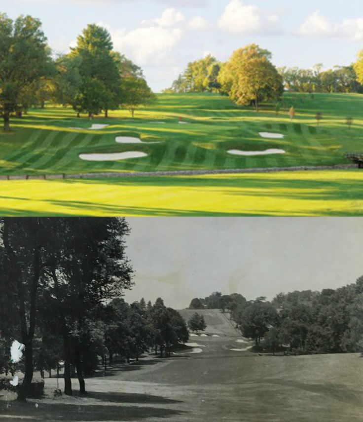 A reflection into the past. Hole #1 at the #ULGolfClub. Present day versus the mid 1900's. This #DonaldRoss Design has been host to some incredible moments in #golf. In 1941 the Torresdale Frankford Country Club held the Henry Hurst Invitational. Sam Snead won that tournament with a score of 64. He has held the course record since. #History #Golf #GolfCourse