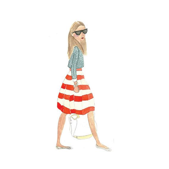 Original fashion illustration in by illustrationsbyaimee on Etsy, $20.00