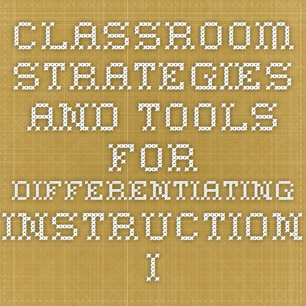 Differentiated Instruction For Ell
