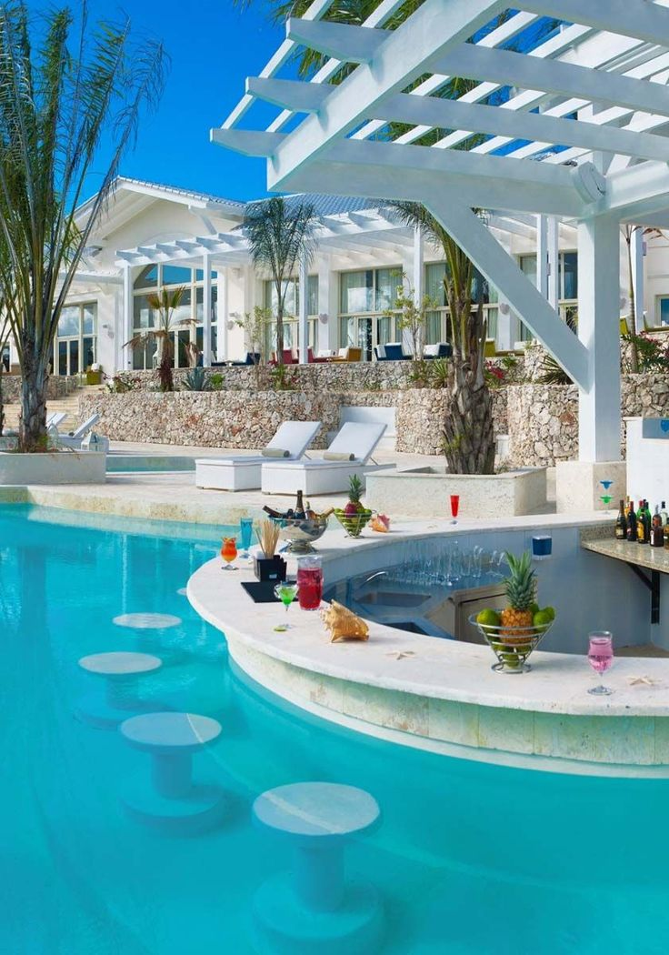 976 best luxury pools images on pinterest indoor pools for Pool design with swim up bar