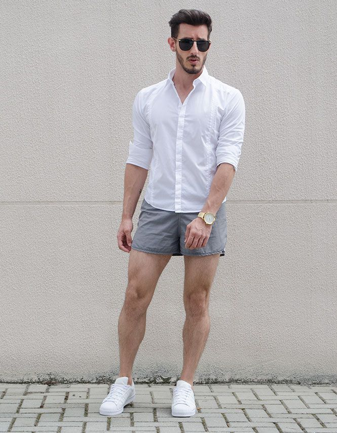 Menswear summer look. Mens Adidas Superstar, Fashion For Short ...