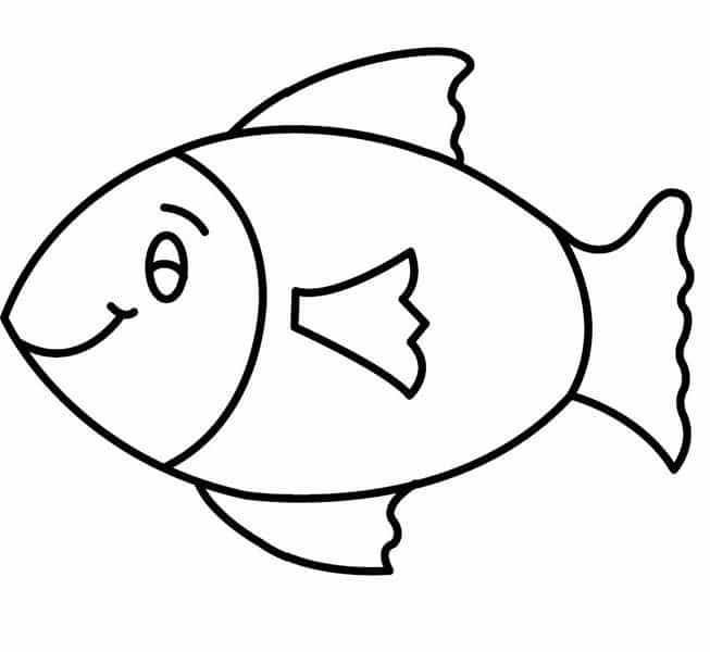 Fish Outline Fish Outline Coloring Pages For Kids Timykids ...