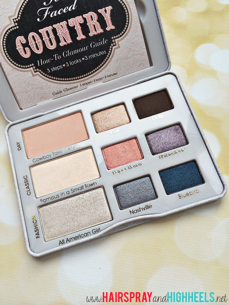 Too Faced Country Palette Review + Swatches #makeup #beauty