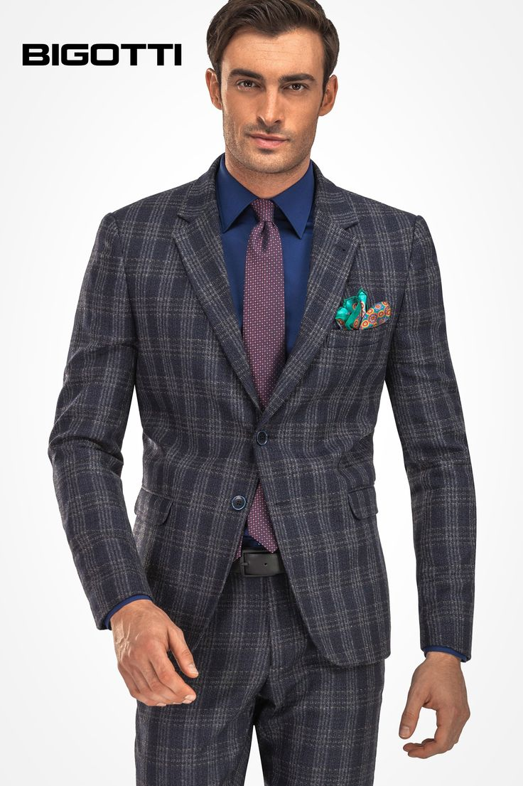 #Classic and #modern at the #same #time, #original, #visually #strong, but #refined, the #plaid #suit will #upgrade the #style of your #outfits.  www.bigotti.ro