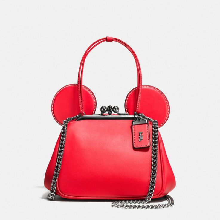 ≪COACH≫|MICKEY KISSLOCK BAG IN GLOVETANNED LEATHER