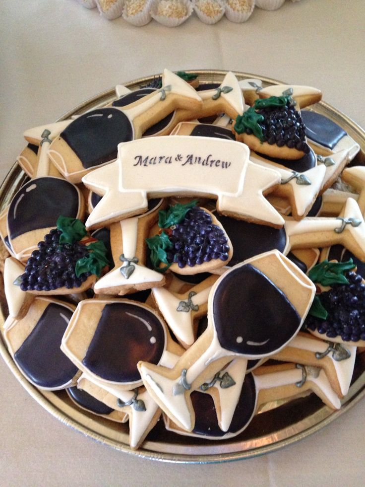Wine themed cookies. Bridal shower