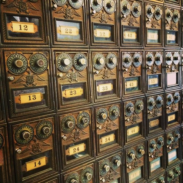 Vintage Post Office Boxes | Content in a Cottage Shades of the past!