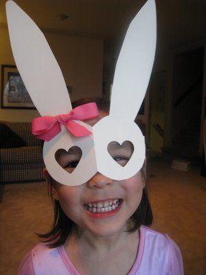 cute:) bunny ear mask