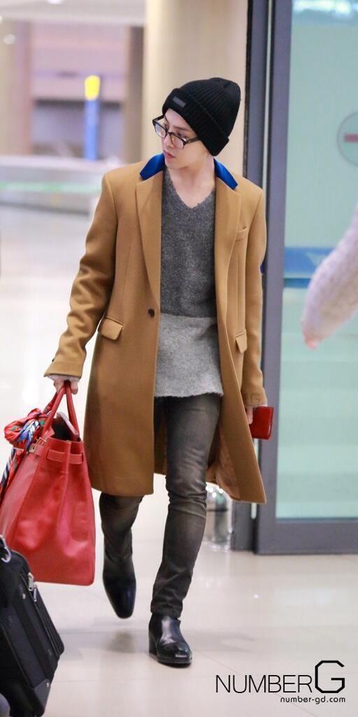 G-Dragon @ Incheon Airport to Japan ♡ #BIGBANG