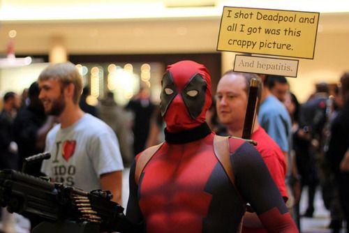 cosgeek:    Deadpool  Taken at Comic Con Atlanta  Source: IcyBrian    Still the best Deadpool cosplay I've ever seen!