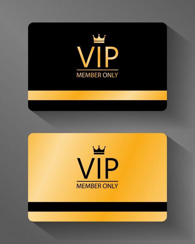 Vip Member Card Gold And Black Vip Card Design Member Card Vip Card