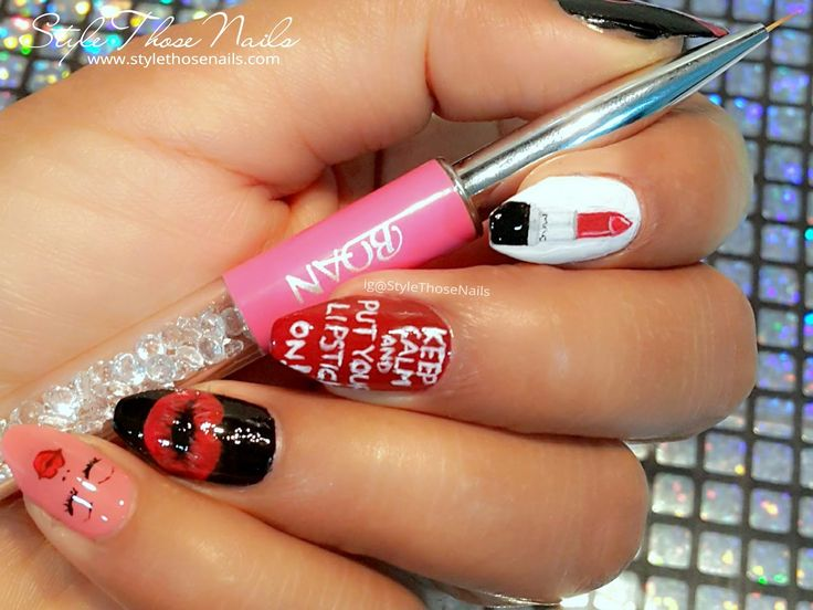 Style Those Nails: Lipstick Nailart (Lippie Nail Collaboration- #TheLippieSquad) and Born Pretty Store Bquan Nailart Brush Review