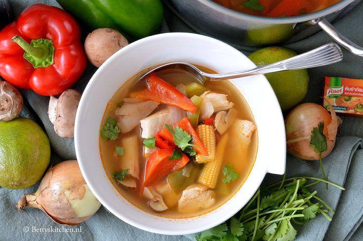 10x Winter soep recepten - Heldere pikante soep uit Thailand (Tom Yum)