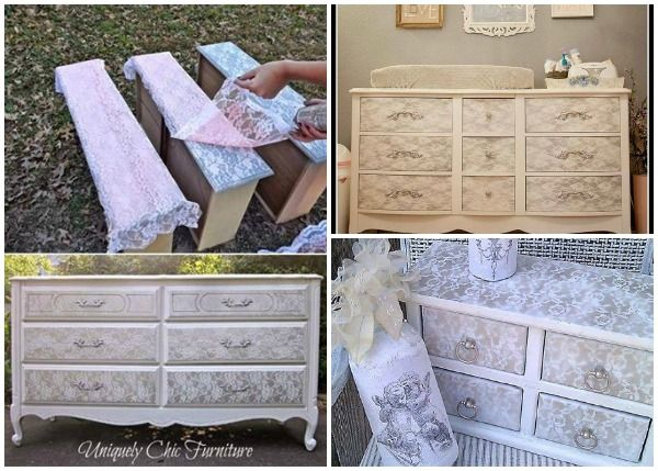 Idees And Solutions: How to DIY Lace Painted Furniture