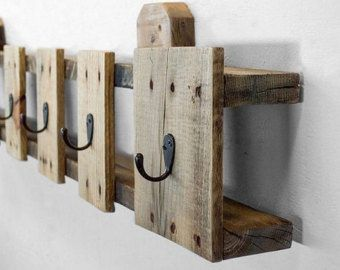 Pallet Coat Hanger/ Upcycled Pallet Wall by SharonMfortheHome