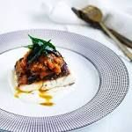"spiced barramundi with tomato-chilli pickle  ""I share a deep love of spices and Asian and Indian flavours with my mentor Phillip Searle (chef-owner of Oasis Seros restaurant),"" says Manfield. Click on the image to continue reading. http://GourmetSifu.com #gourmet  #cooking  #finedining  #food  #gourmetfood  #kitchen  #gourmetrecipe"