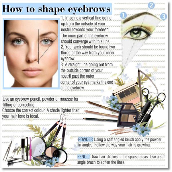 """How to shape eyebrows"" by helleka on Polyvore"