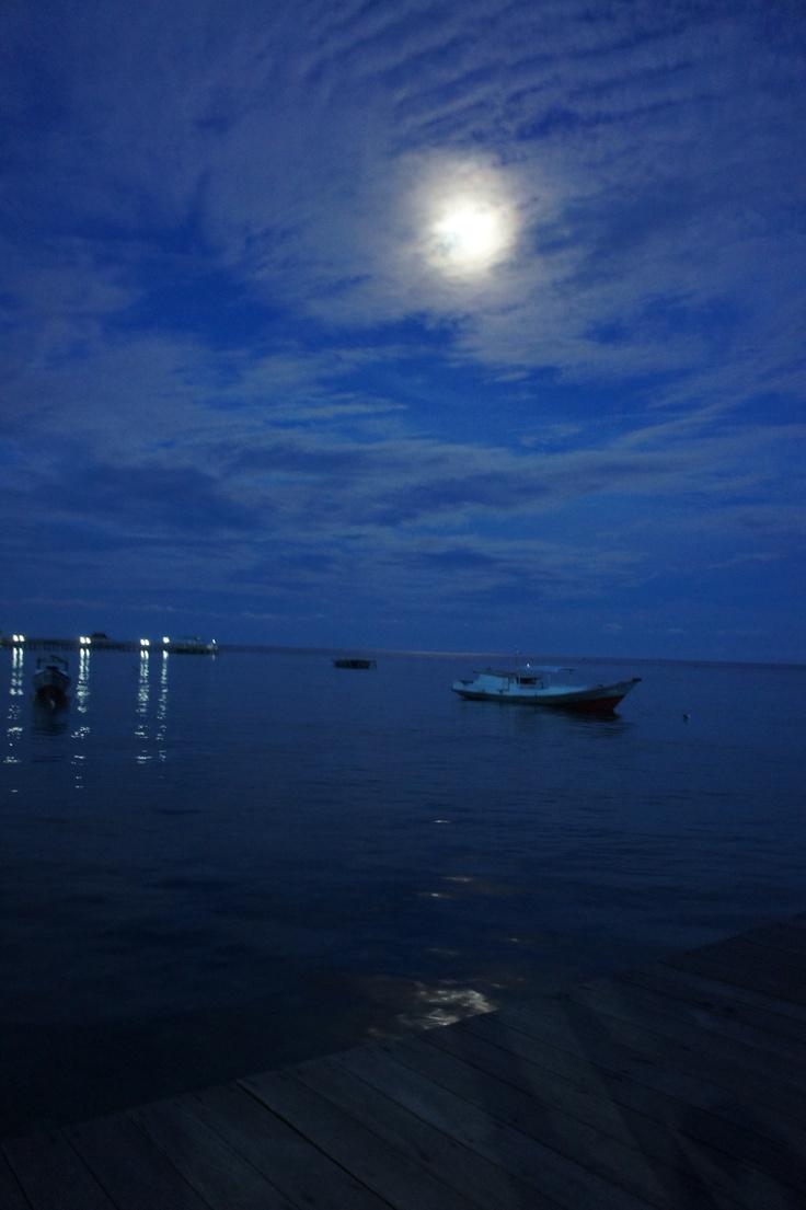 Derawan island at night