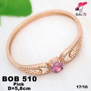 Perhiasan Xuping Gelang Wanita Elizabeth Batu Zircon Pink Gold OB 510  Perhiasan Xuping Lapis Emas 18k, Awet dan Tahan Lama, pancaran kilau cantik . Tampil cantik dengan keunikan pilihan model dan warna sesui hati anda  Fast Respon Pin BBM : D5B0B9AB  WA/SMS/Telp : 081546577219  bahan dasar tembaga (bukan besi). dilapisi RODHIUM yang biasanya digunakan untuk melapisi emas di toko-toko emas 18k.Permata Zircon, Bisa di sepuh ulang dan anti alergi.