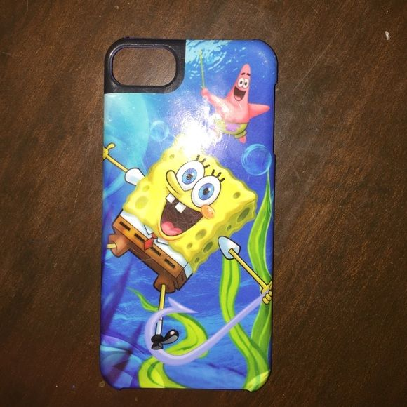 SpongeBob iPod 5 case Great condition just has a smudge on the back that I'll clean. Its in perfect condition! OtterBox Accessories Phone Cases